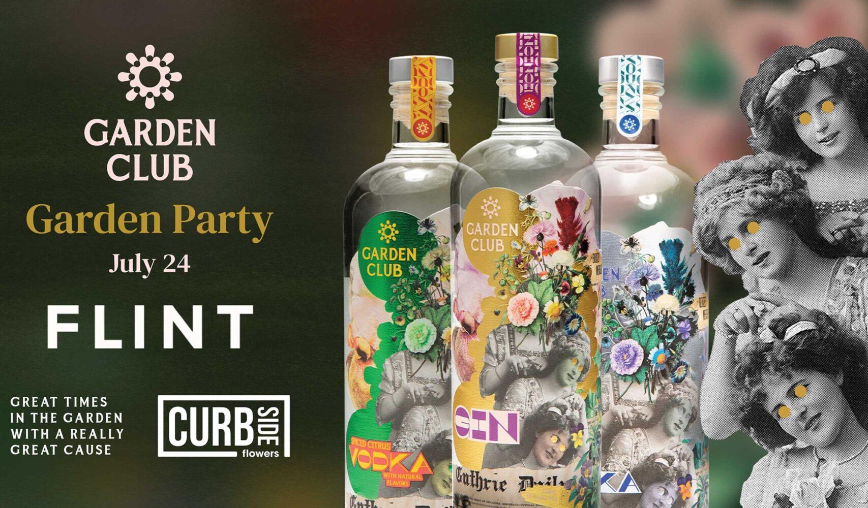 garden club garden party july 24 flint poster