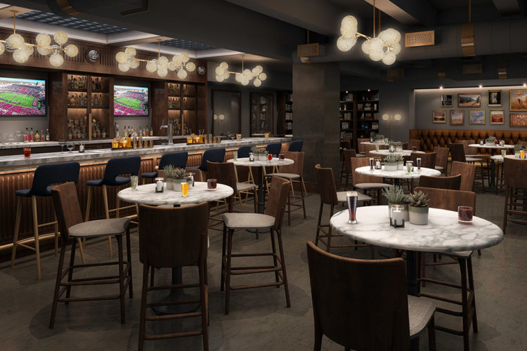 inside rendering of Paramount cocktail bar