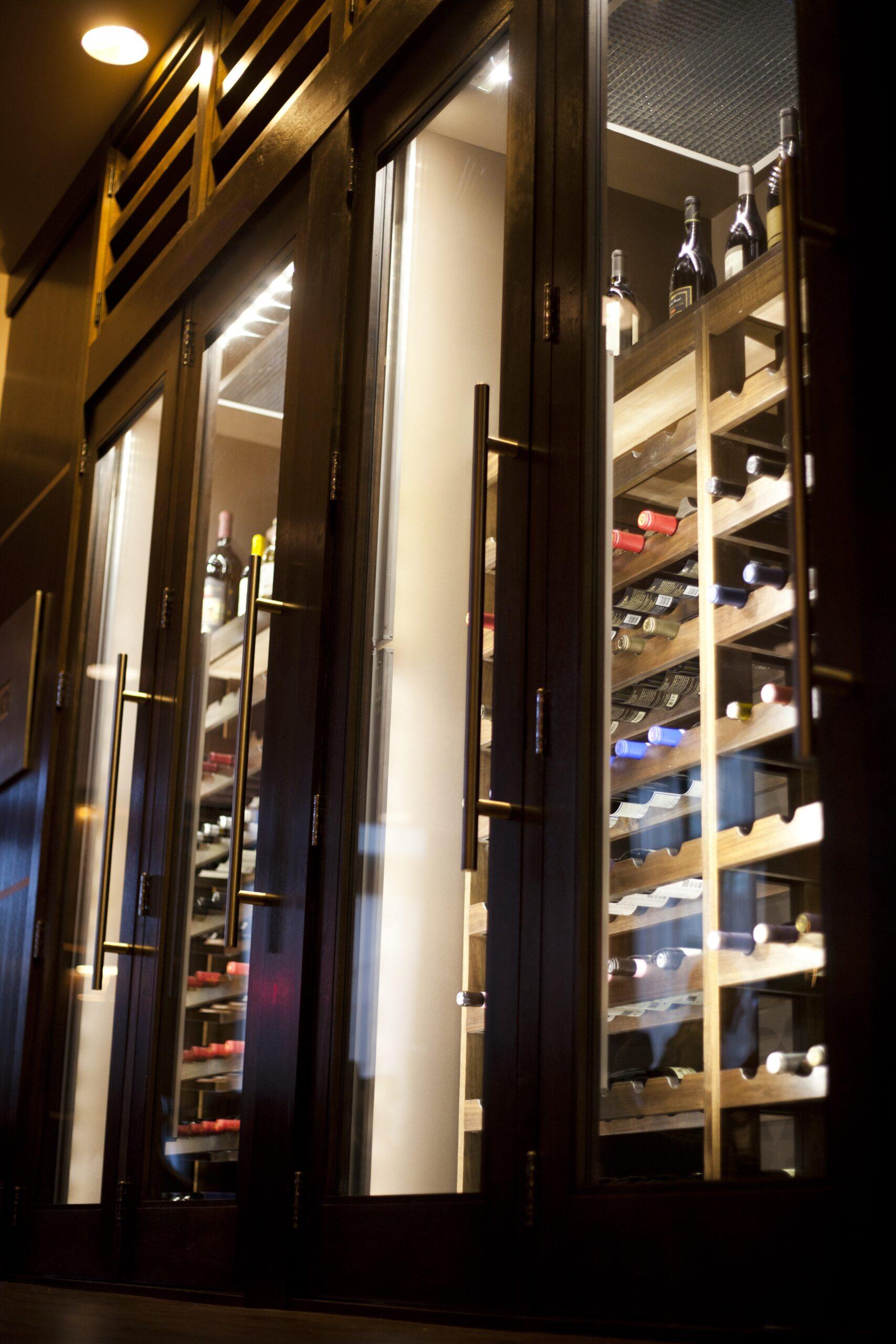 Siena Tuscan Steakhouse Wine Display