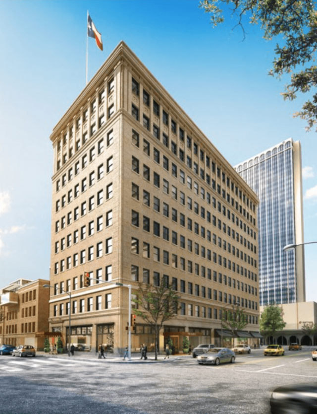 Rendering of the Future Barfield Hotel in Amarillo, Texas