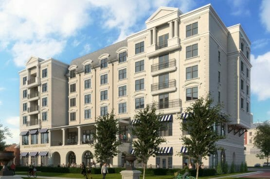 The future Carmichael Hotel in Carmel, Indiana