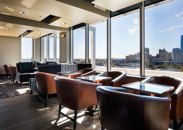 View of downtown Oklahoma City at O Bar