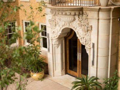 Entryway to Ambassdor Hotel Oklahoma City