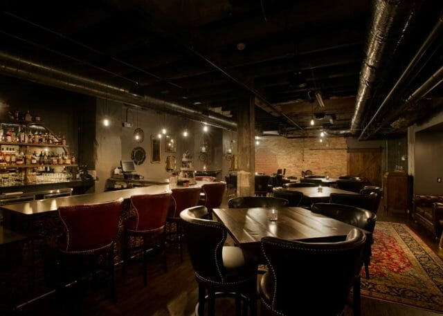 Interior view of Dockum speakeasy in Wichita