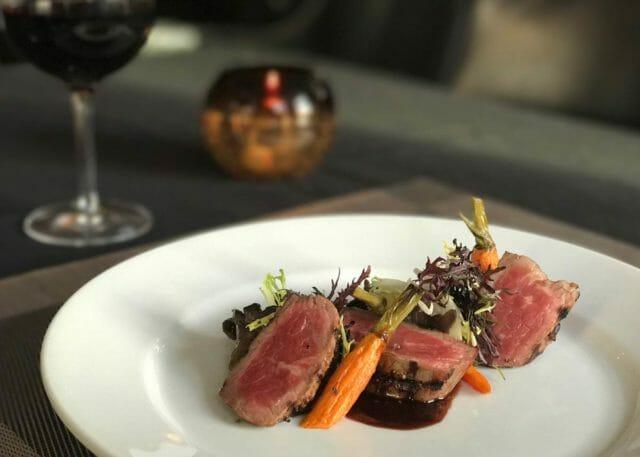 Dinner plate at Siena Tuscan restaurant in Wichita