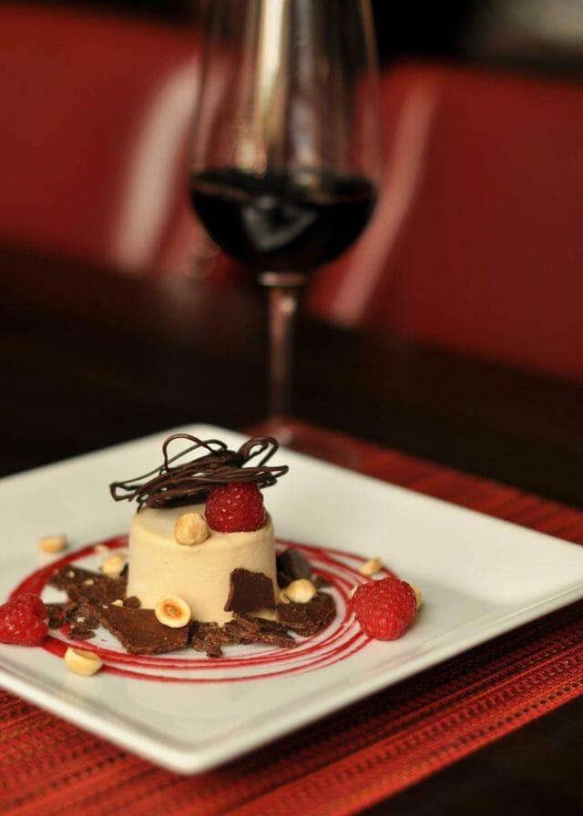 Dessert plate at Siena Tuscan restaurant in Wichita