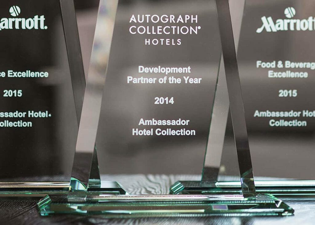 Marriott International awards for Coury Hospitality