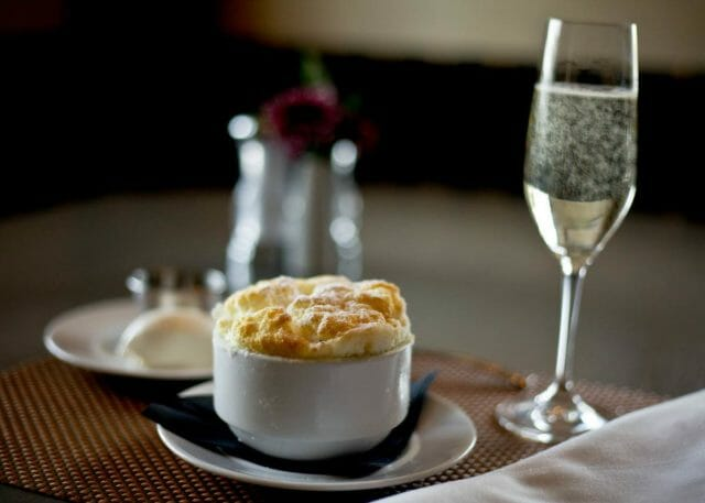 Soufflé at Café Cuvée in Oklahoma City