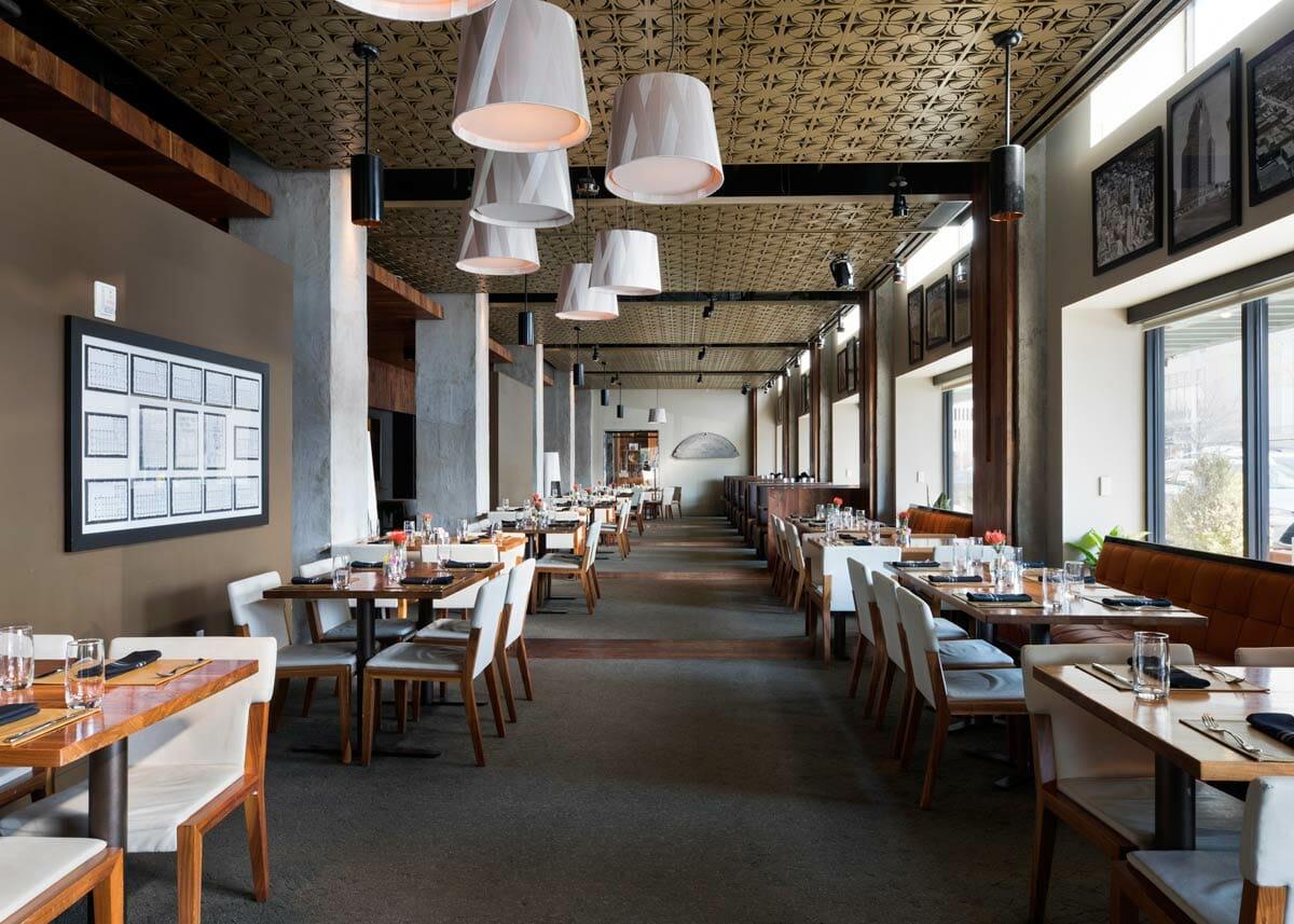 Interior view of Flint restaurant, Oklahoma City