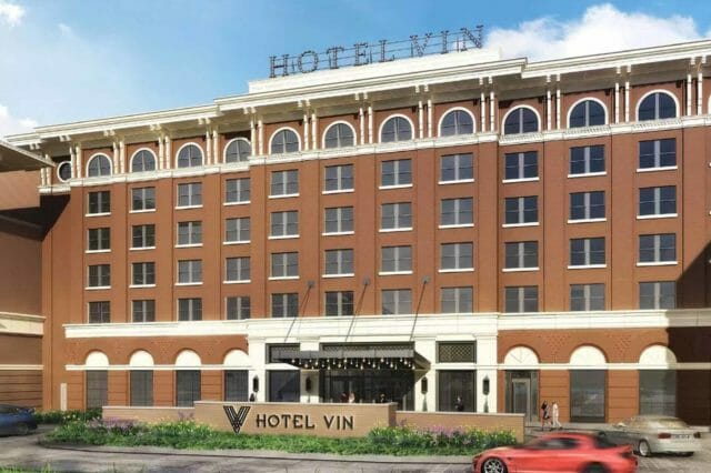 Rendering of future Hotel Vin in Grapevine, Texas