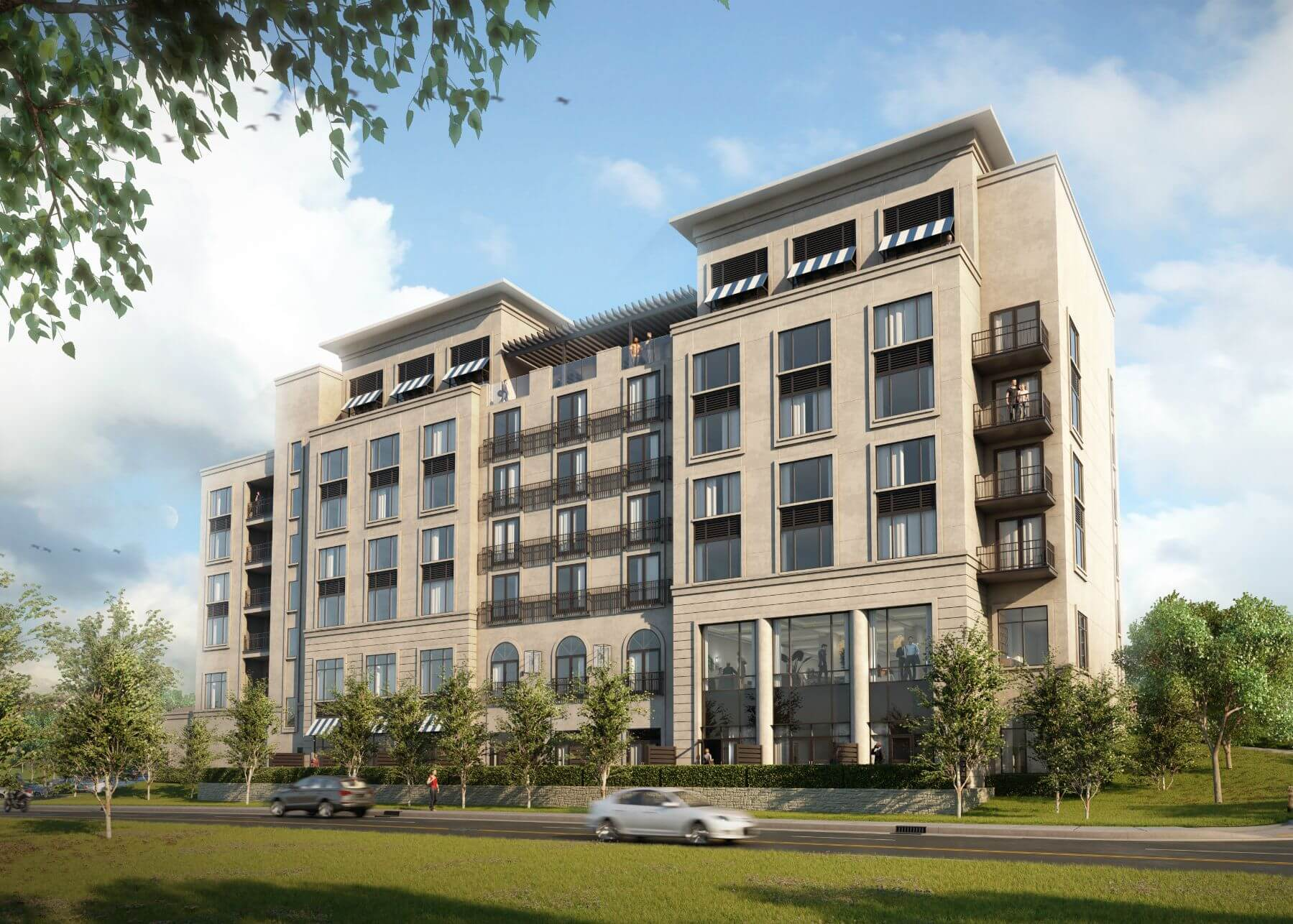 Rendering of the future hotel The Maple in Tulsa, Oklahoma