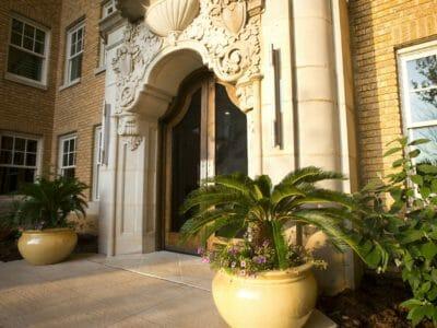 Entrance to Ambassador Hotel Oklahoma City