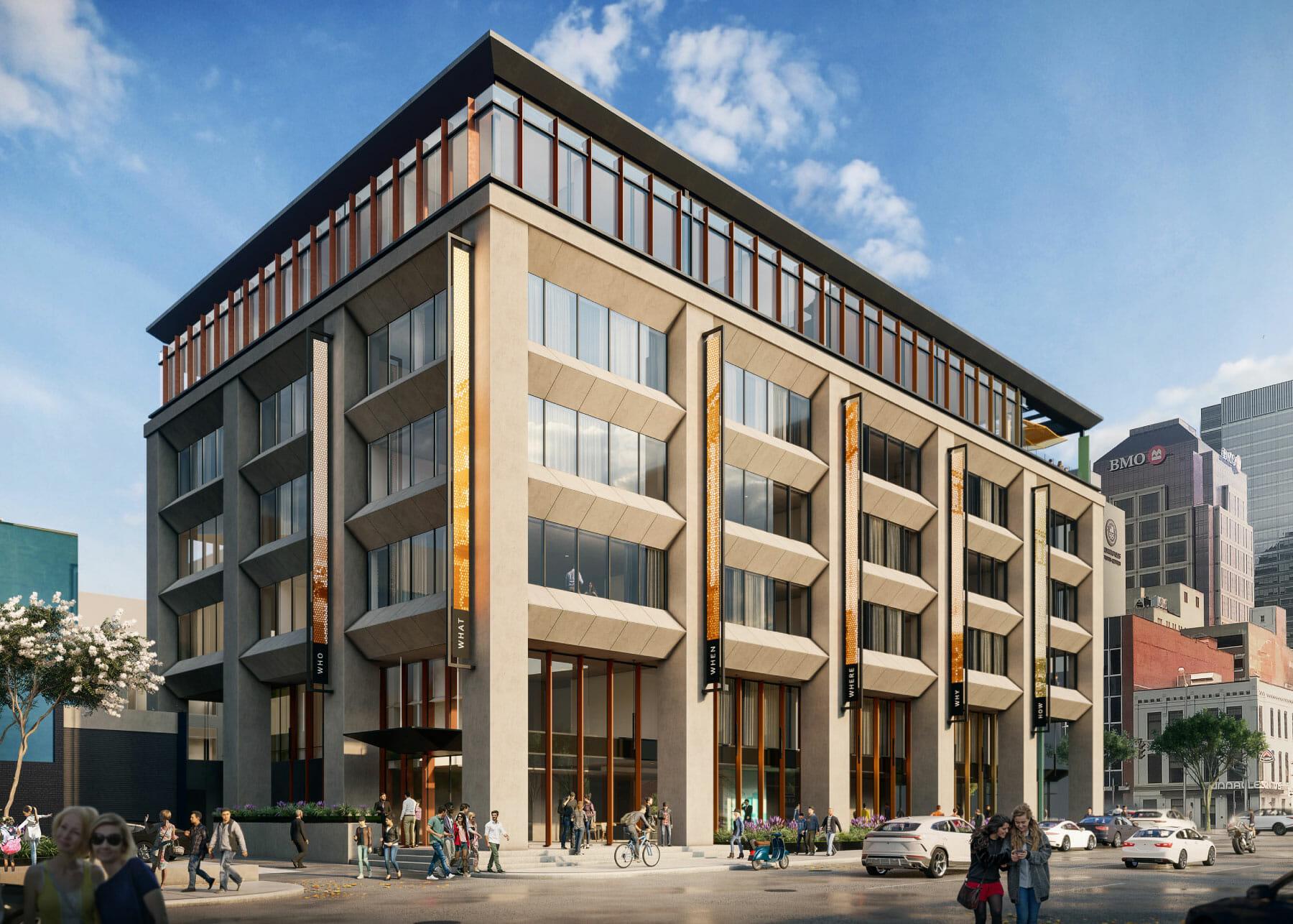 Hotel Indy exterior rendering