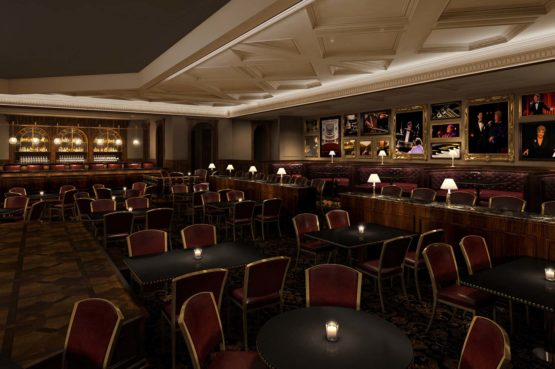 inside Feinstein's at Hotel Carmichael
