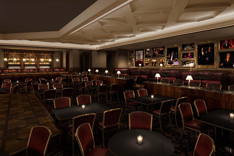 inside Feinstein's at Hotel Carmichael