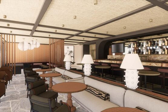 Cannonball Lounge Rooftop Bar Interior Rendering
