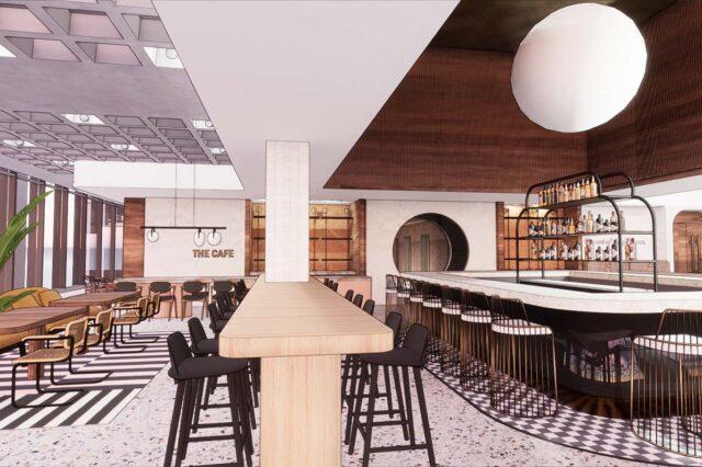 The Hulman Interior Restaurant Rendering