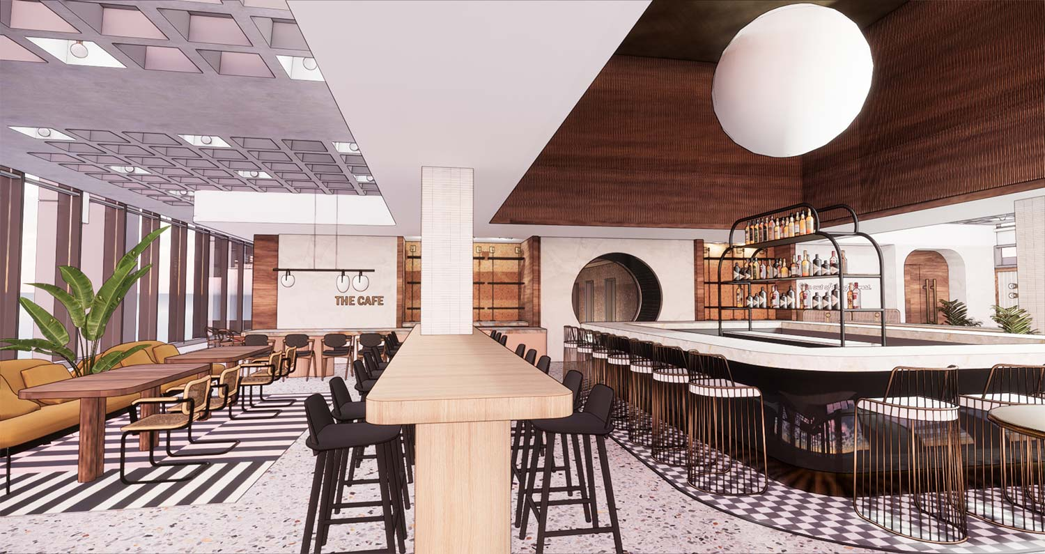 The Hulman Interior Restaurant Rendering