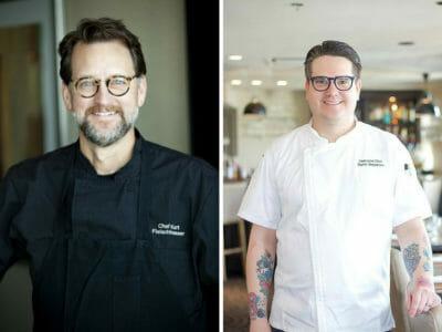 two chef headshots split side by side