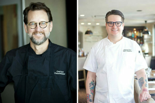 two chef headshots split side by side