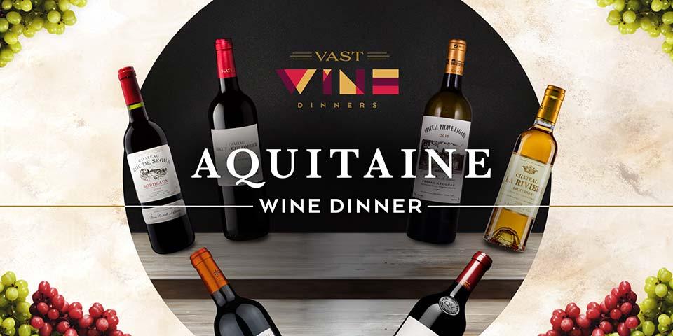 aquitaine wine dinner poster
