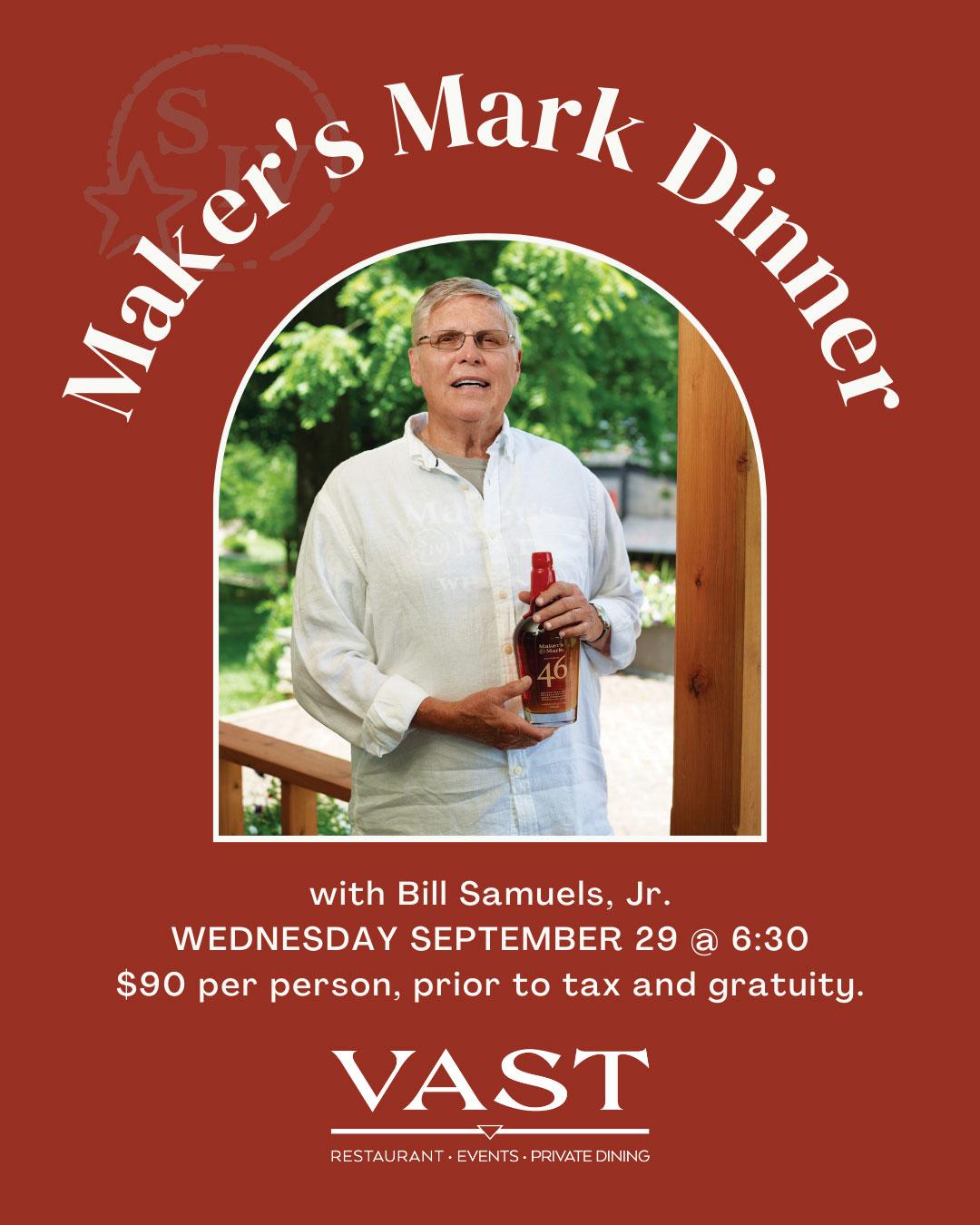 Maker's Mark Dinner - September 29