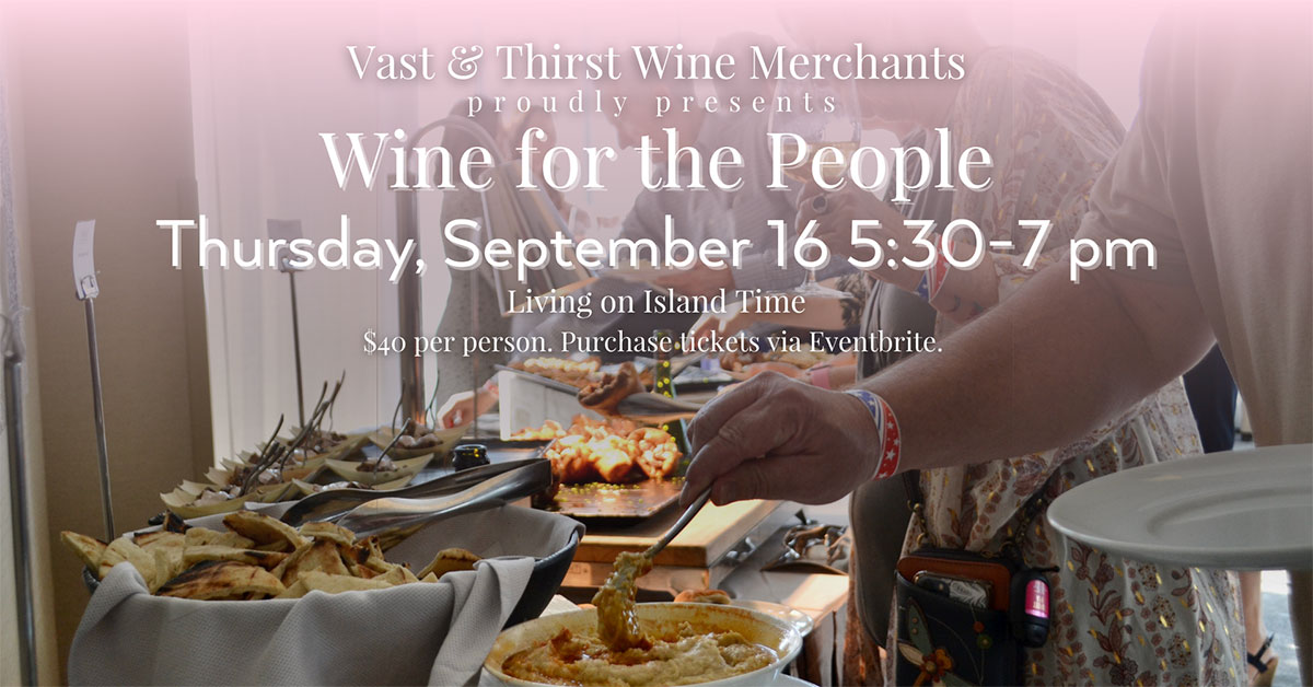 Wine for the People - Thursday, September 16th from 5:30-7