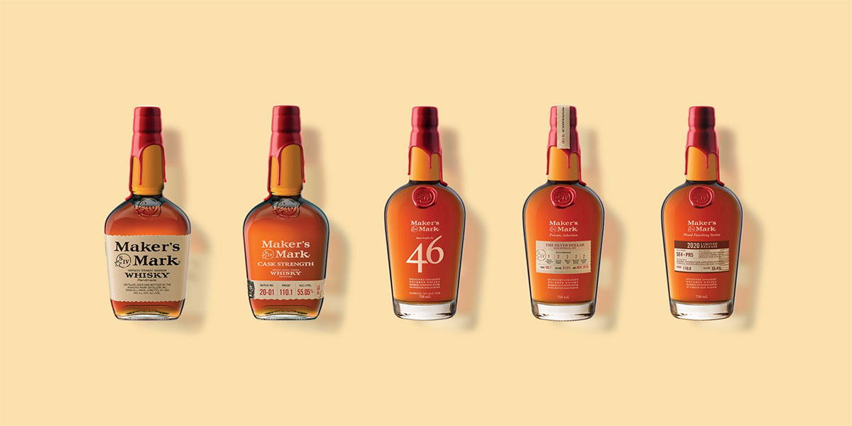a selection of Maker's Mark whiskies