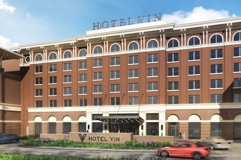 exterior facade of Hotel Vin's entrance
